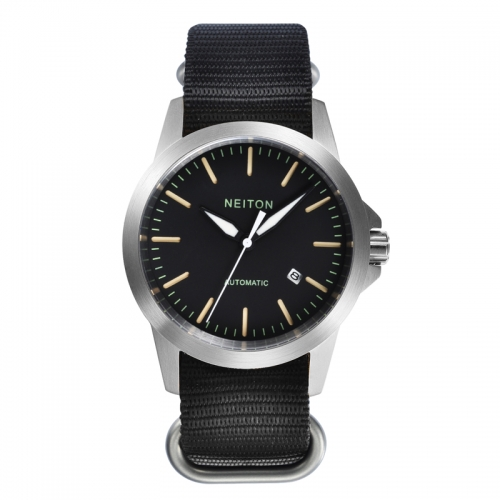 NEITON 42mm Sapphire Glass Luminous Black Dial Automatic Watch