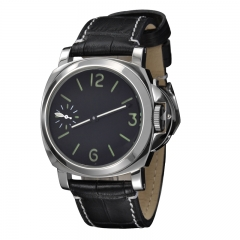 44mm Without Logo Black Sandwich Dial Green Number Asian sea-gull 6497 Men Watch