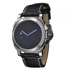 44mm Without Logo Black Dial Blue Numbesr Asian 6497 Watch