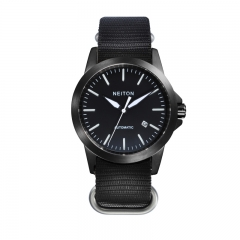 NEITON 42mm PVD Case Black Dial Luminous Automatic Watch
