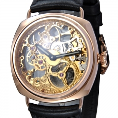 45mm Marina Militare Full Skeleton Hand Winding 6497 watch