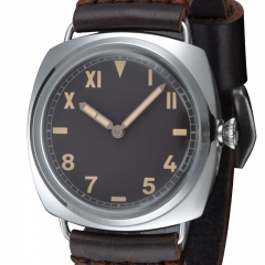 47mm Marina Militare California Style Black Dial Swan Neck Watch