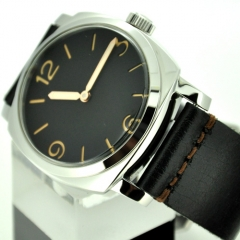 47mm Marina Militare Orange Number Black Dial Swan Neck Watch
