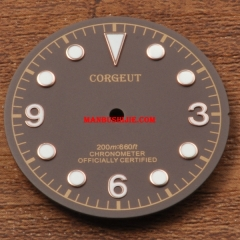 Corgeut 30.5mm Coffee watch Dial fit Miyota 8205/8215,Mingzhu DG2813/3804 movement watches