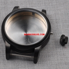 46mm stainless steel PVD watch case for eta 6497 6498 Seagul st36 movement