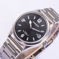 41mm corgeut black dial Sapphire glass miyota Automatic mens wrist watch
