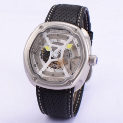 Corgeut 46mm Gray Dial Yellow hands  Miyota Automatic Men WristWatch