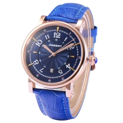 Debert 43.5MM Blue Dial Rose Gold Case Japan Miyota Automatic Wrist Watches