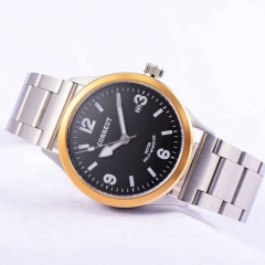 41mm corgeut black dial gold bezel miyota Automatic movement mens wrist watch