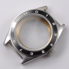 40mm Black Ceramic Bezel Sapphire Cystal Watch Case Fit ETA 2824 2836 Movement