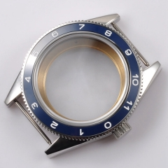 40mm Blue Ceramic Bezel Sapphire Cystal Watch Case Fit ETA 2824 2836 Movement