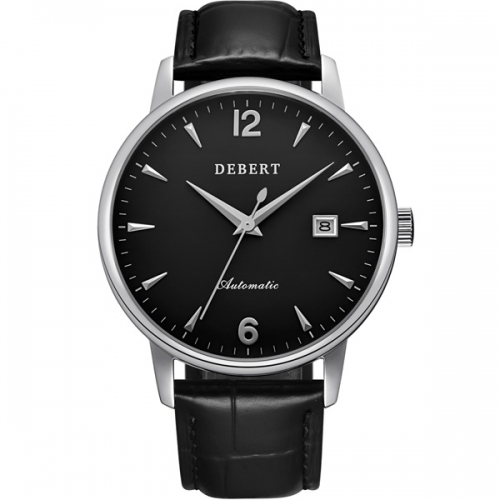 40mm Debert Sapphire glass Genuine Leather Japan Miyota Automatic mens Watches