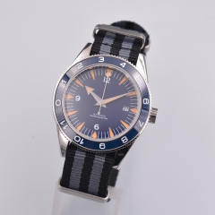 41mm Corgeut blue dial sapphire glass Leather strap Luminous miyota Automatic mens Watch