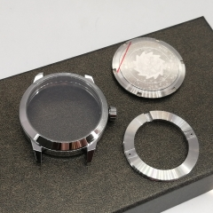 41mm Sapphire Glass brushed Stainless steel Case Fit 2824/2836 8215 movements