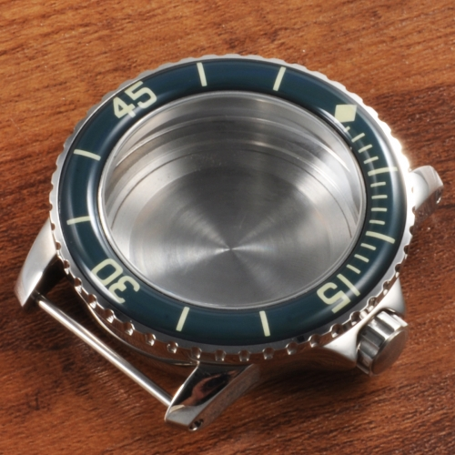 45mm SS Watch Case green bezel Fit ETA2836 Miyota 821A/8215 NH35 Watches Movement