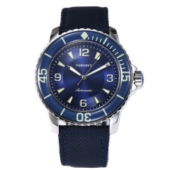 Corgeut 45mm blue dial Luminous Bezel Diving Automatic NH35 Mens Watches