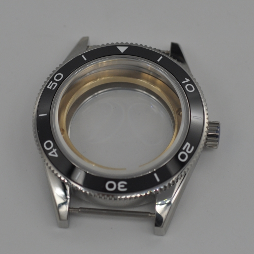 41mm Black Ceramic Bezel Sapphire Cystal Watch Case Fit ETA 2824 2836 Movement