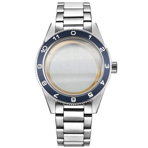 Watches parts 41mm ceramics bezel fit Miyota 8205/8215,ETA 2836/2824,DG2813/3804 Watch Case stainless steel strap